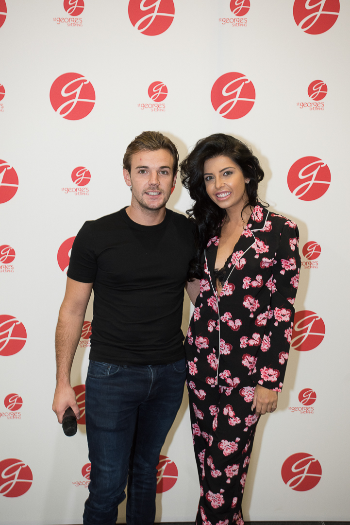 St George's Shopping Centre Student Lock-In event in Preston Love Island's Nathan Massey and Cara De La Hoyde